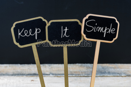 motivational message keep it simple written