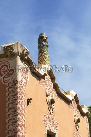 dekorative fassade gaudi house museum mit