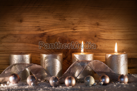 silver candles for the 2 advent