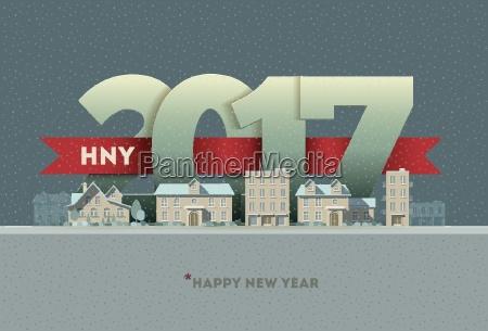 2017 happy new year in der