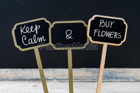 keep calm and buy flowers message