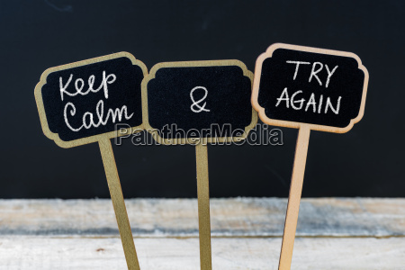 keep calm and try again message