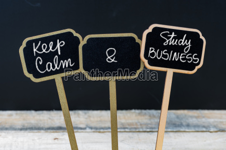 keep calm and study business message