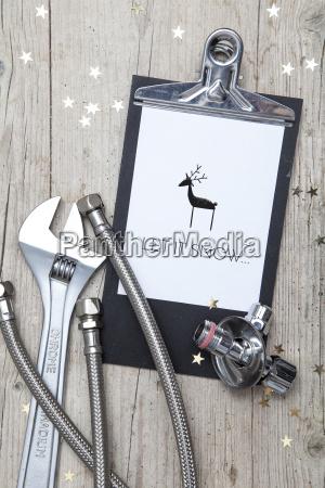 creative christmas card for an installation