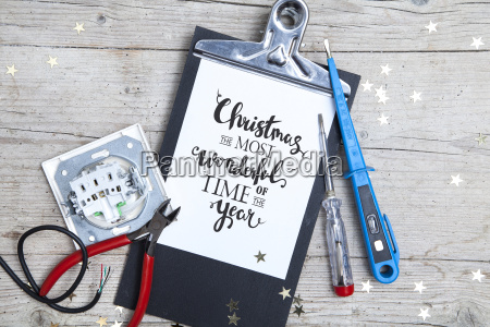 creative christmas card for an electrican