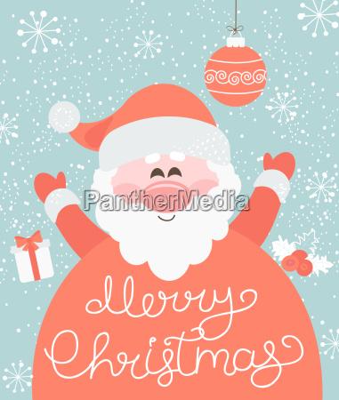 frohe weihnachten von santa