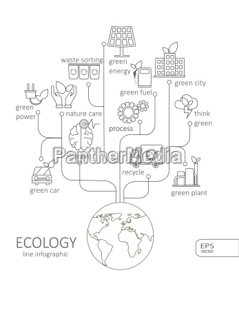 simple mono linear pictogram infographic