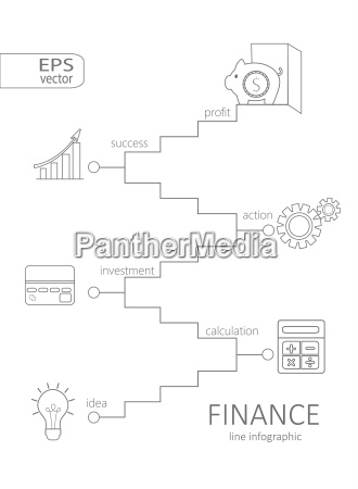 infographic finance concept