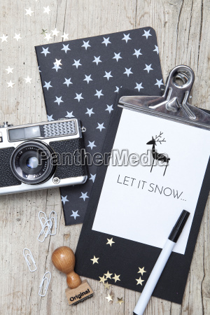 creative christmas card with an old