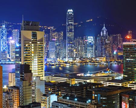 hong kong downtown area