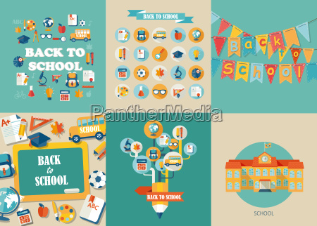 vector illustration concepts of education