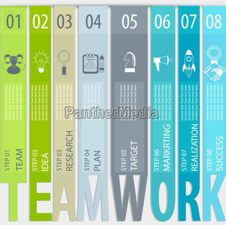 teamwork concept infographic