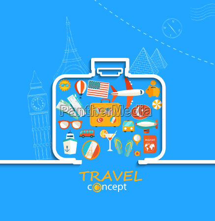concept of the travel