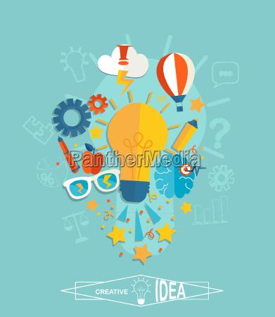 conceptual of creative idea