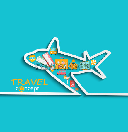 concept of travelling by plane