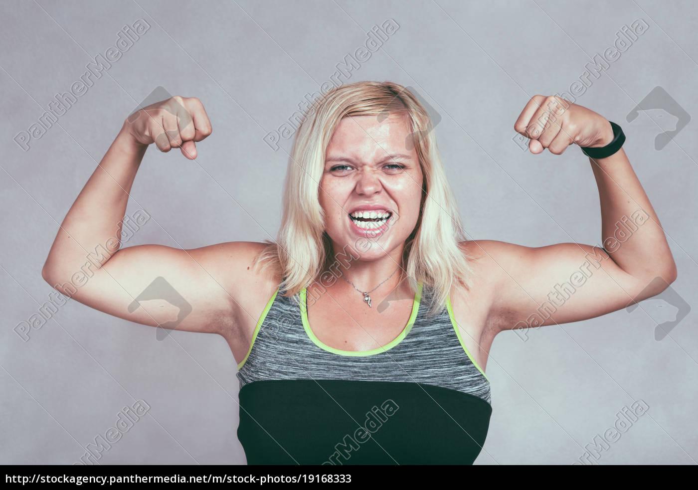 Muskulös frau Frau