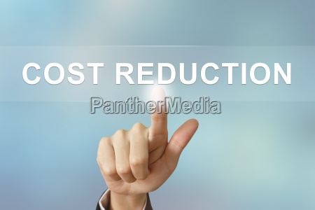 business hand klickkostenreduzierung taste auf unscharfen