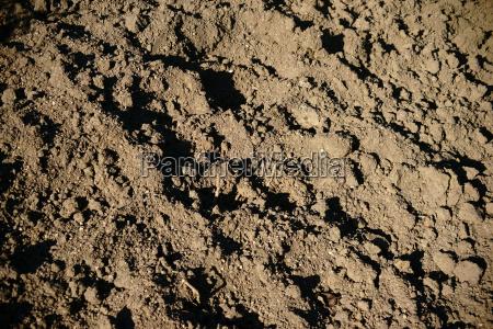 umgegrabenes erdreich