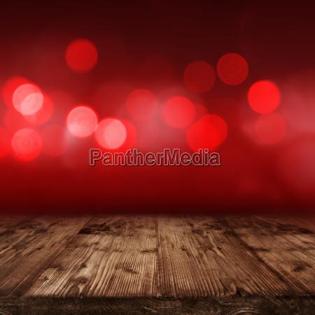 red illuminated background