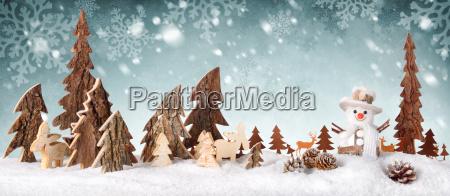 holz dekoration hintergrund mit schnee design
