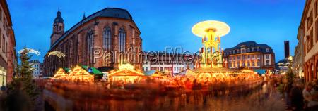 christmas market in heidelberg market square