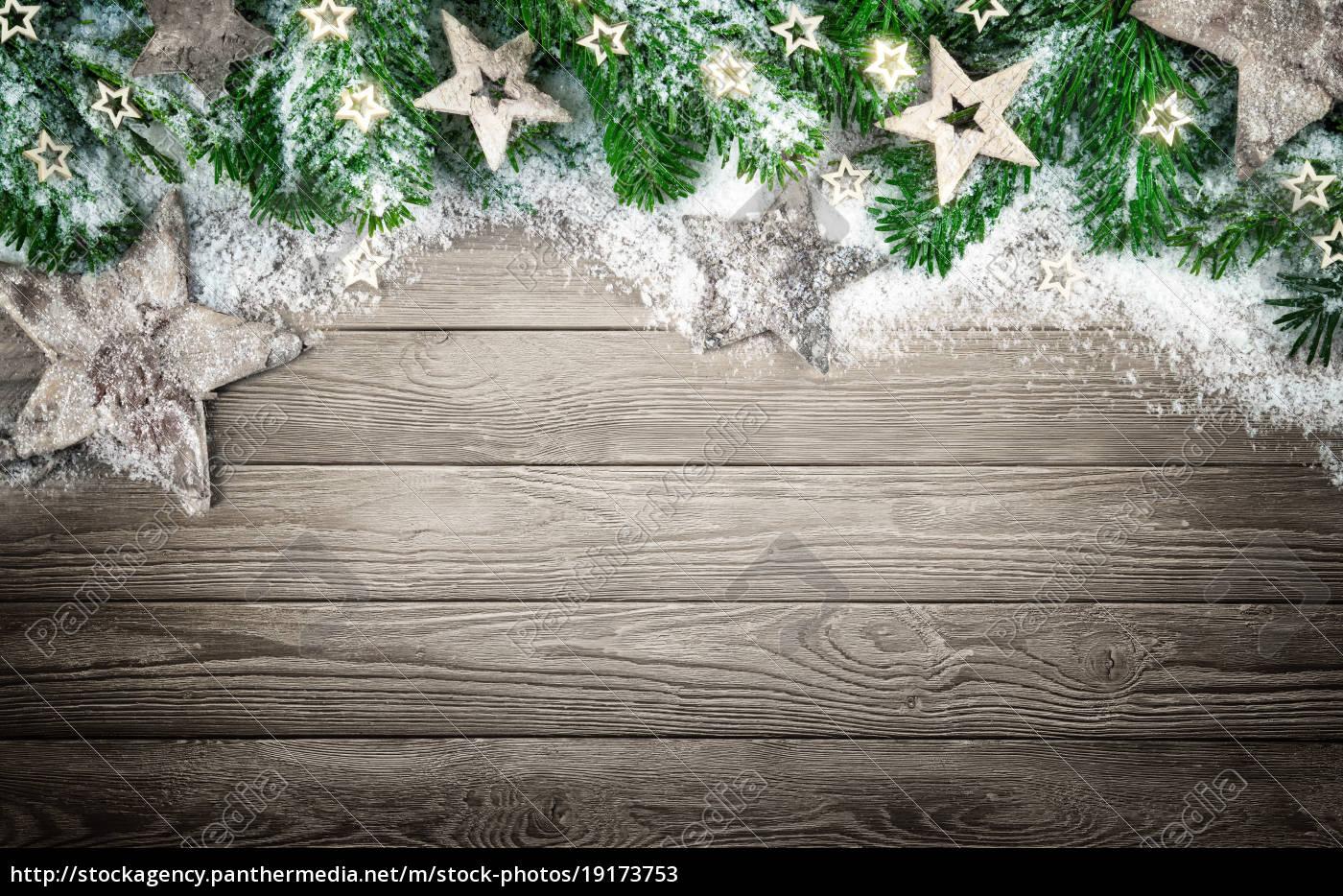 Hintergrund Weihnachten.Stockfoto 19173753 Hintergrund Fur Weihnachten Und Advent Mit Holz Schnee Und