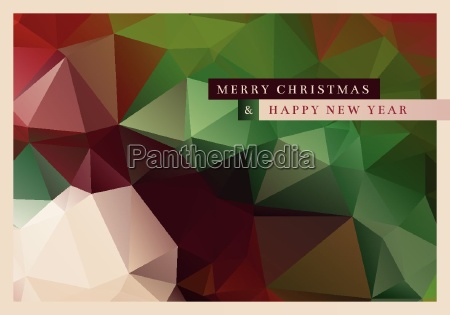 vector christmas greeting card design with