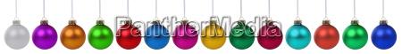 weihnachtskugeln weihnachten viele bunte dekoration in