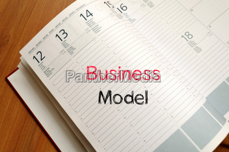 business model text concept on notebook