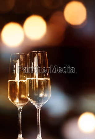 background with two champagne glasses