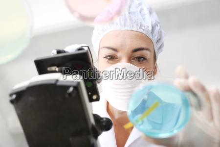 chemist tested in the laboratory the