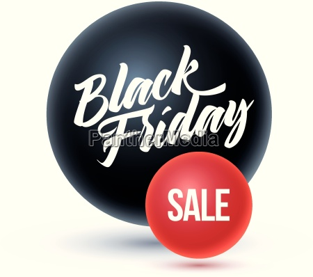 black friday on black sphere and
