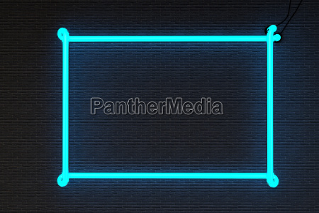 3d render neon frame isolated on
