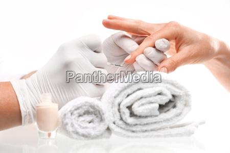 asciugamano strofinaccio smalto per le unghie