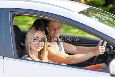 young people enjoying a roadtrip in