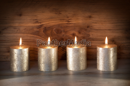 noble candles against a background of