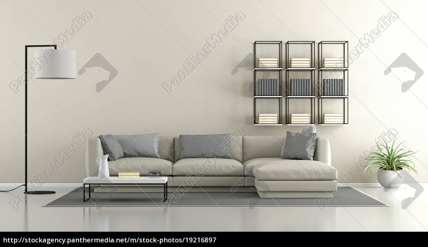 minimalist wohnzimmer - Lizenzfreies Bild - #19216897 - Bildagentur ...