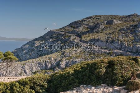mountain road in mallorca spain
