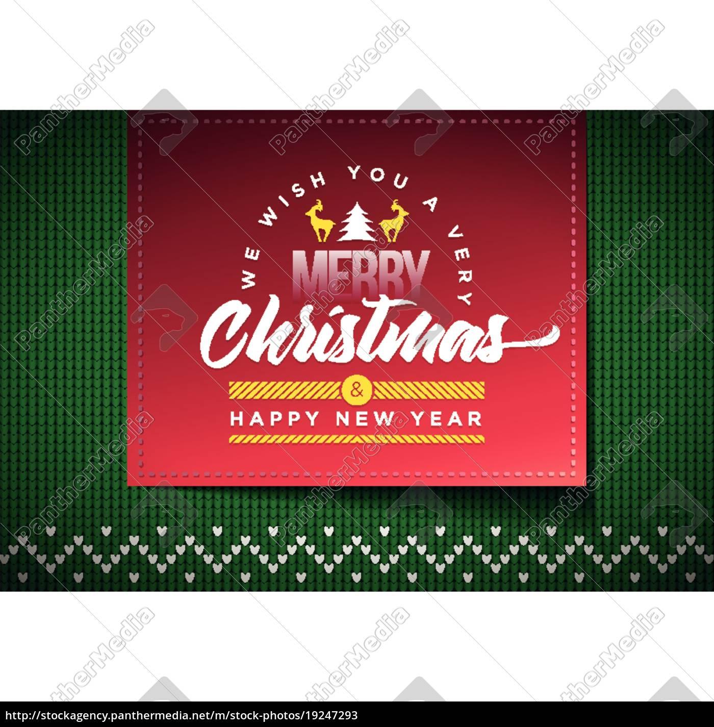 Frohe Weihnachten Und Happy New Year.Lizenzfreie Vektorgrafik 19247293 Frohe Weihnachten Und Happy New Year Nachricht Auf Vektor