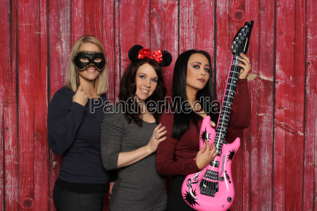3 girls at a photobooth party