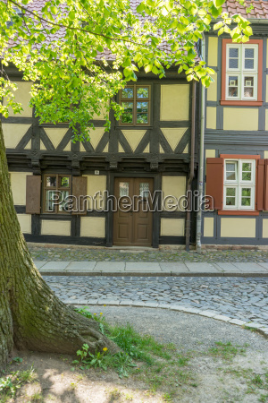 historical half timbered house in wernigerode