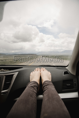 a woman in a car with