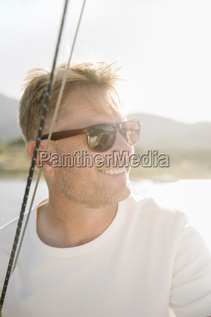 portrait of a blond man with