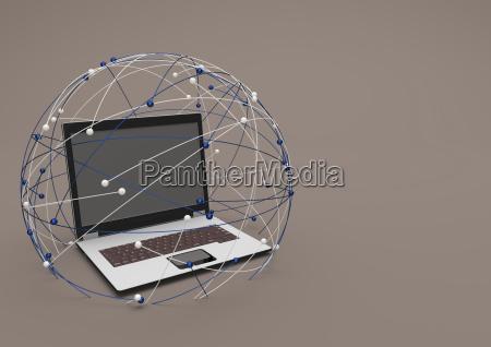 laptop notebook computer pc kommunikation illustration