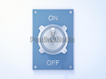 blue flip switch on off 3d