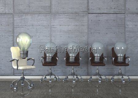 3d illustration best idea swivel chairs
