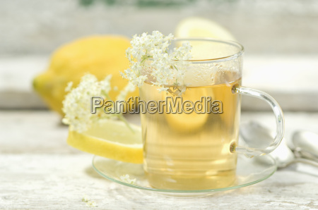 elder flower tea tea cup and