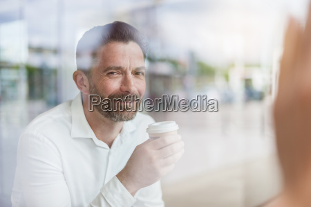 portrait of smiling businessman in a