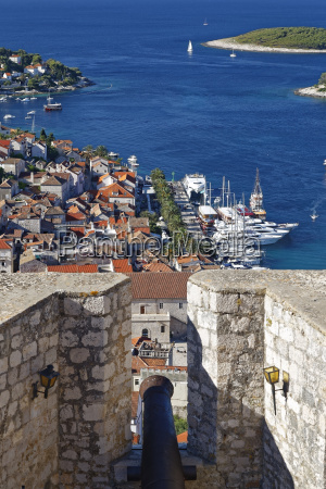 croatia hvar island hvar and harbour