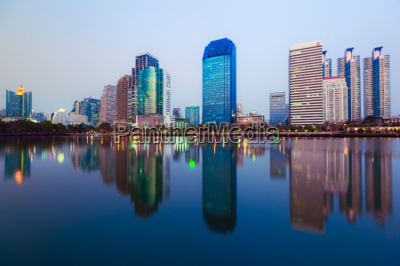 thailand bangkok view of skyline at